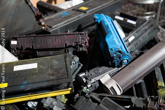 Discarded Toner and Laser Cartridges at BCMY