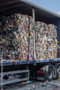 Bales of Recycled Plastic