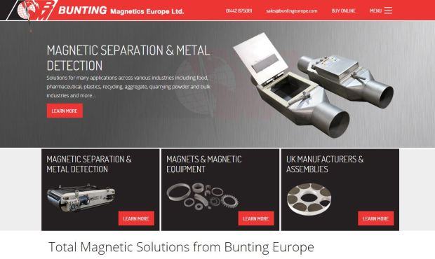 New Bunting Europe Website